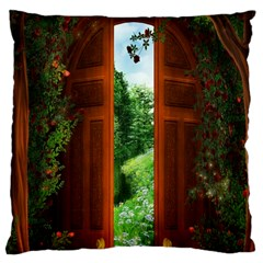 Beautiful World Entry Door Fantasy Large Cushion Case (Two Sides)