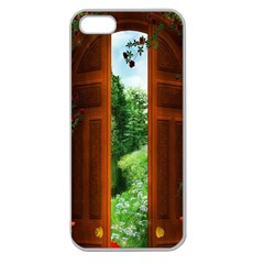 Beautiful World Entry Door Fantasy Apple Seamless iPhone 5 Case (Clear)