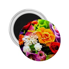 Colorful Flowers 2.25  Magnets