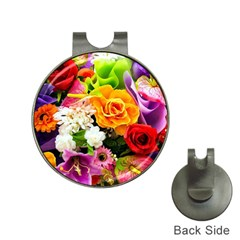 Colorful Flowers Hat Clips with Golf Markers