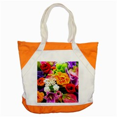 Colorful Flowers Accent Tote Bag