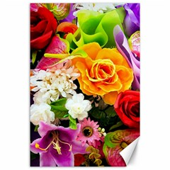 Colorful Flowers Canvas 24  x 36