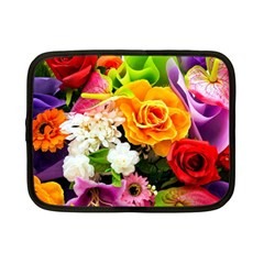 Colorful Flowers Netbook Case (Small)