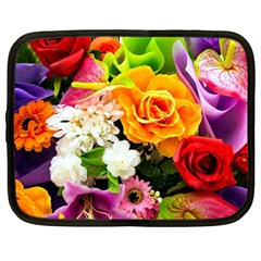 Colorful Flowers Netbook Case (Large)