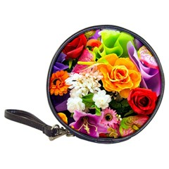 Colorful Flowers Classic 20-CD Wallets