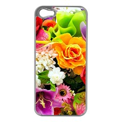 Colorful Flowers Apple iPhone 5 Case (Silver)