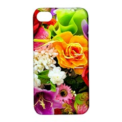 Colorful Flowers Apple iPhone 4/4S Hardshell Case with Stand
