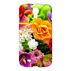 Colorful Flowers Samsung Galaxy S4 I9500/I9505 Hardshell Case