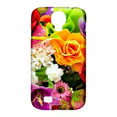 Colorful Flowers Samsung Galaxy S4 Classic Hardshell Case (PC+Silicone)