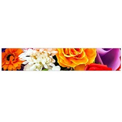Colorful Flowers Flano Scarf (Large)