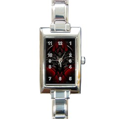 Black Dragon Grunge Rectangle Italian Charm Watch