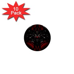 Black Dragon Grunge 1  Mini Buttons (10 pack)