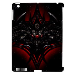 Black Dragon Grunge Apple iPad 3/4 Hardshell Case (Compatible with Smart Cover)