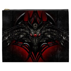 Black Dragon Grunge Cosmetic Bag (XXXL)