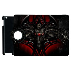 Black Dragon Grunge Apple iPad 2 Flip 360 Case