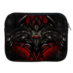 Black Dragon Grunge Apple iPad 2/3/4 Zipper Cases