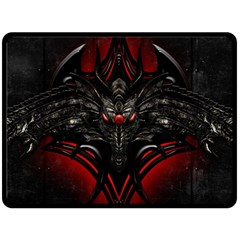 Black Dragon Grunge Double Sided Fleece Blanket (Large)