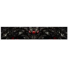 Black Dragon Grunge Flano Scarf (Large)