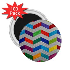 Charming Chevrons Quilt 2.25  Magnets (100 pack)
