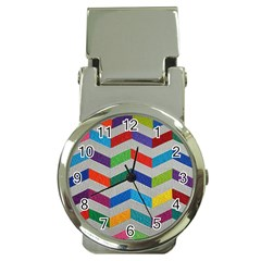 Charming Chevrons Quilt Money Clip Watches