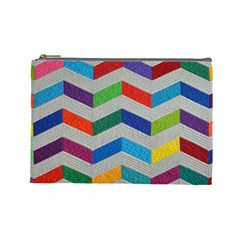 Charming Chevrons Quilt Cosmetic Bag (Large)