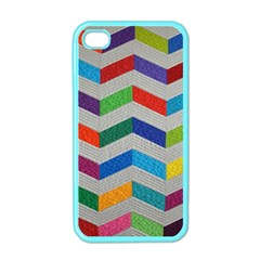 Charming Chevrons Quilt Apple iPhone 4 Case (Color)
