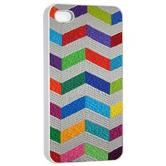 Charming Chevrons Quilt Apple iPhone 4/4s Seamless Case (White)