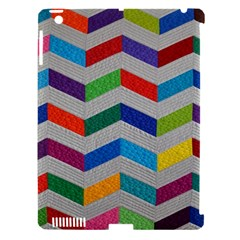 Charming Chevrons Quilt Apple iPad 3/4 Hardshell Case (Compatible with Smart Cover)