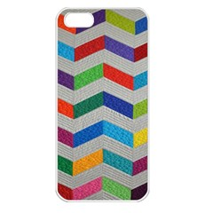 Charming Chevrons Quilt Apple iPhone 5 Seamless Case (White)