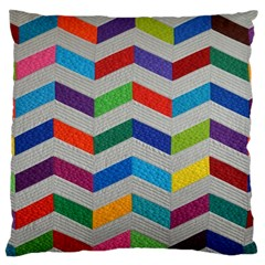 Charming Chevrons Quilt Large Flano Cushion Case (Two Sides)