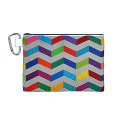 Charming Chevrons Quilt Canvas Cosmetic Bag (M)