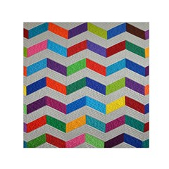 Charming Chevrons Quilt Small Satin Scarf (Square)