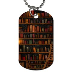 Books Library Dog Tag (Two Sides)