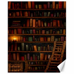 Books Library Canvas 16  x 20