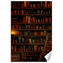 Books Library Canvas 20  x 30