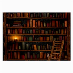 Books Library Large Glasses Cloth