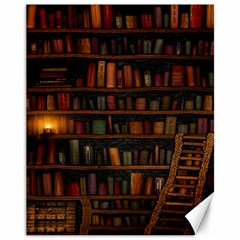 Books Library Canvas 11  x 14