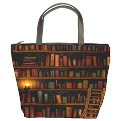 Books Library Bucket Bags