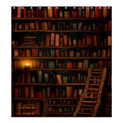 Books Library Shower Curtain 66  x 72  (Large)