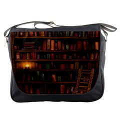 Books Library Messenger Bags