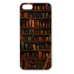 Books Library Apple Seamless iPhone 5 Case (Clear)