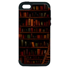 Books Library Apple iPhone 5 Hardshell Case (PC+Silicone)