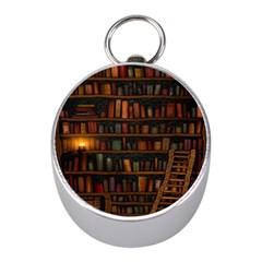 Books Library Mini Silver Compasses