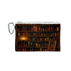 Books Library Canvas Cosmetic Bag (S)
