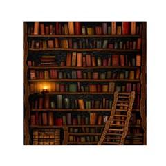 Books Library Small Satin Scarf (Square)