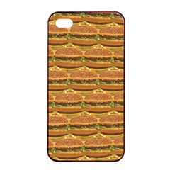 Delicious Burger Pattern Apple Iphone 4/4s Seamless Case (black)