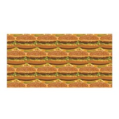 Delicious Burger Pattern Satin Wrap