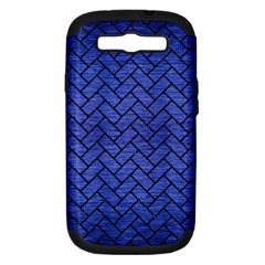 Brick2 Black Marble & Blue Brushed Metal (r) Samsung Galaxy S Iii Hardshell Case (pc+silicone)