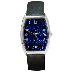 Blue Circuit Technology Image Barrel Style Metal Watch