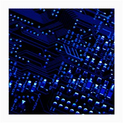 Blue Circuit Technology Image Medium Glasses Cloth